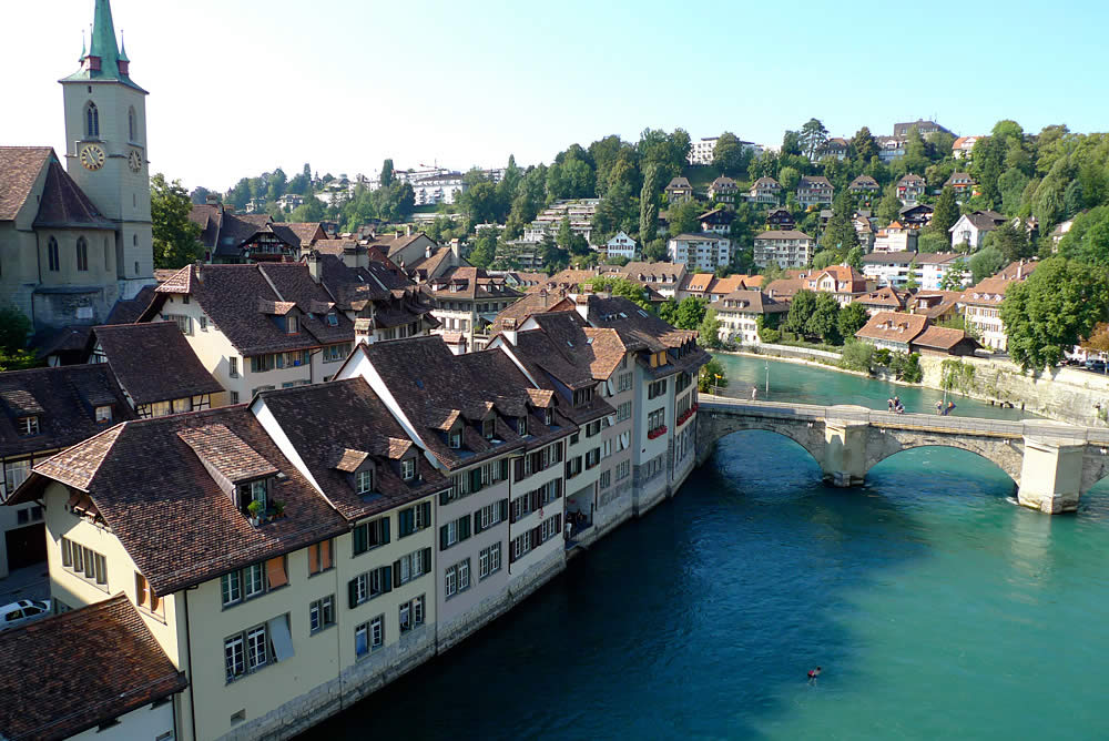 bern switzerland river aare bern 1000